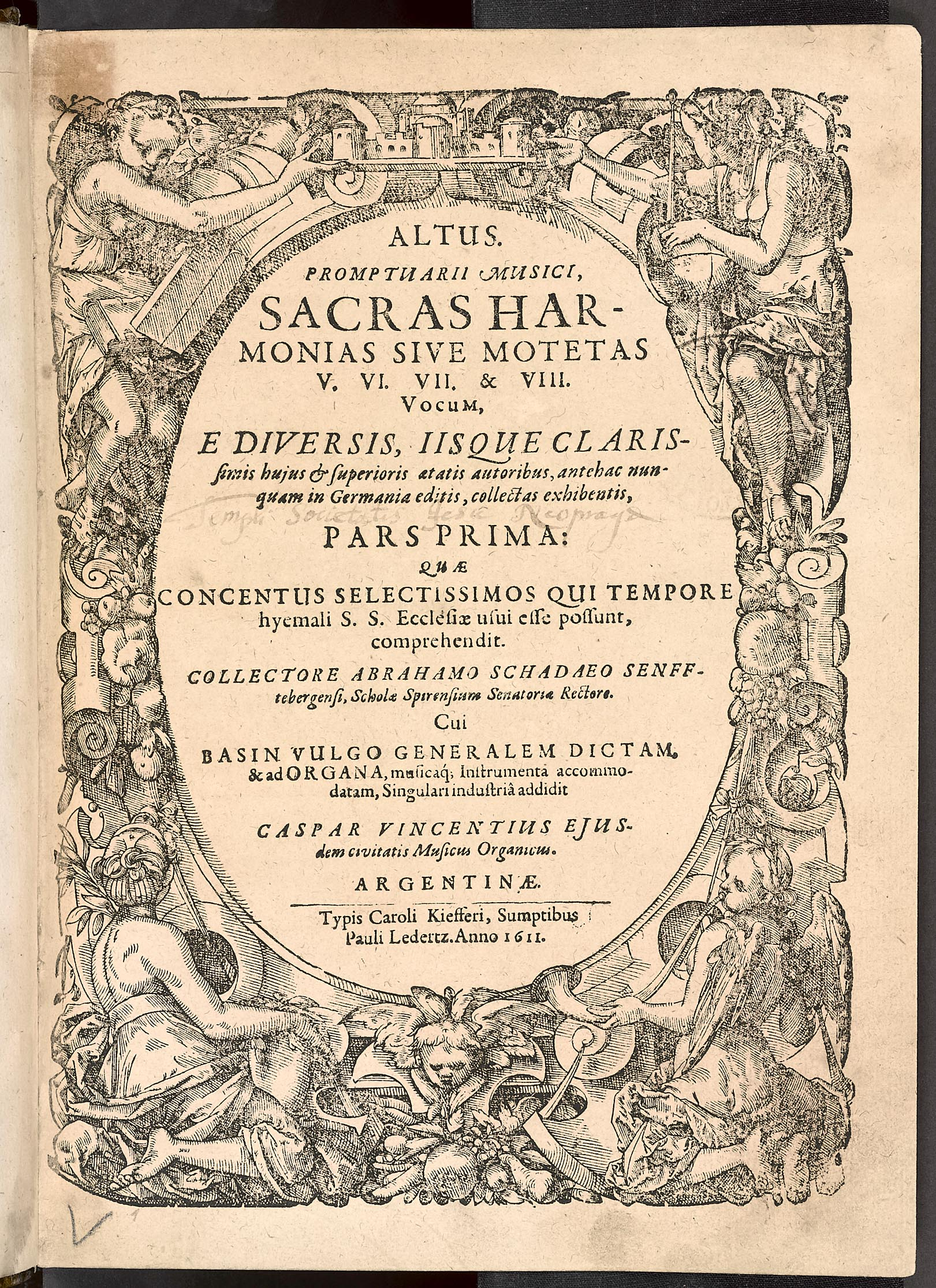 Promptuarii musici sacras harmonias sive motetas ... Altus (Konvolut hlasových knih)