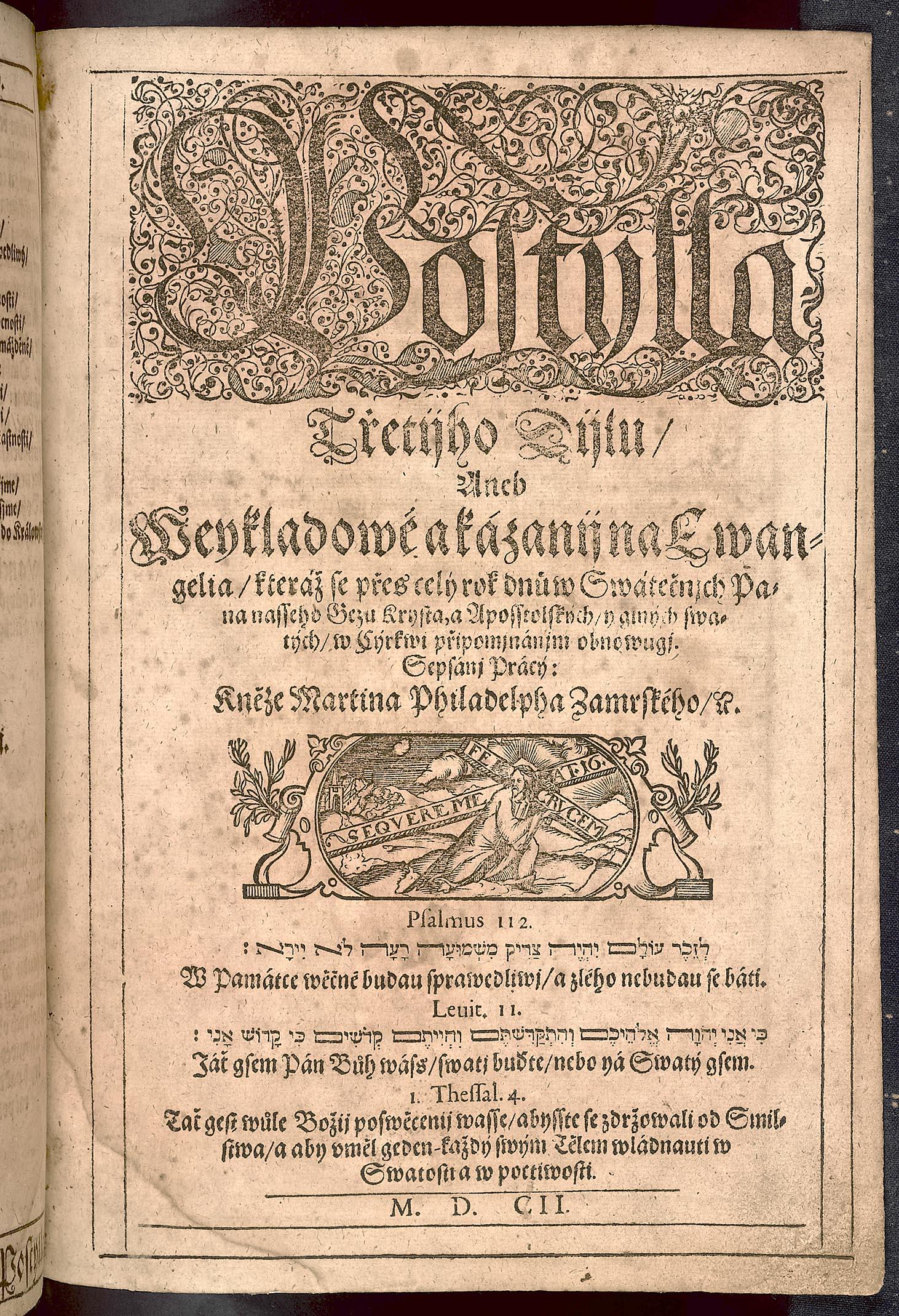 Martin Philadelphus Zámrský: Postila evangelická